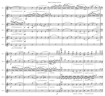 There's a Song in the Air, with Jesu, Joy of Man's Desiring for flute quintet | ScoreVivo