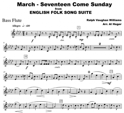March - Seventeen Come Sunday for flute, string, and woodwind | ScoreVivo