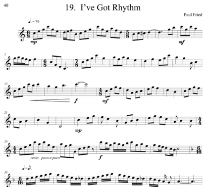 25 Warm Ups and Caprices for flute | ScoreVivo