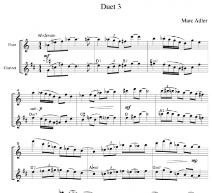 Jazz Duets for Flute and Clarinet | ScoreVivo