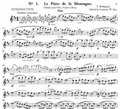 Two Melodies for Flute, Violin, and Cello | ScoreVivo
