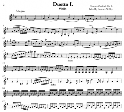 Six Duets, Op. 8 for flute and violin | ScoreVivo