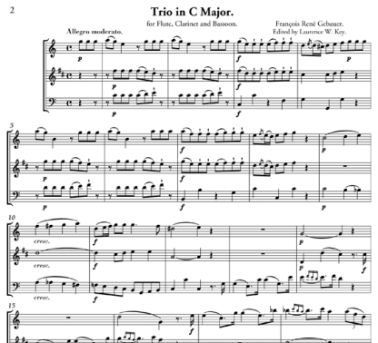 Trio Concertant in C Major for flute, clarinet, and bassoon | ScoreVivo