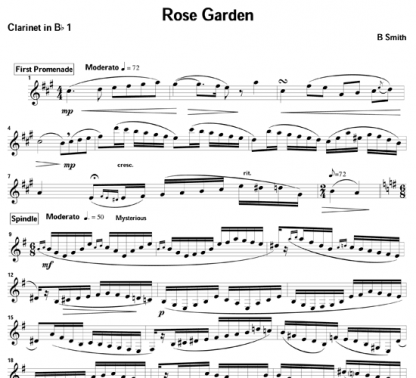 Rose Garden for clarinet and piano | ScoreVivo