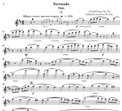 Serenade Sextet, Op 34 for flute and string orchestra | ScoreVivo