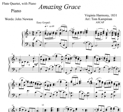 Amazing Grace for flute and piano | ScoreVivo