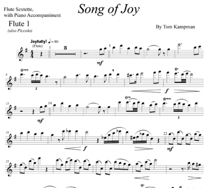 Song of Joy for flute and piano | ScoreVivo