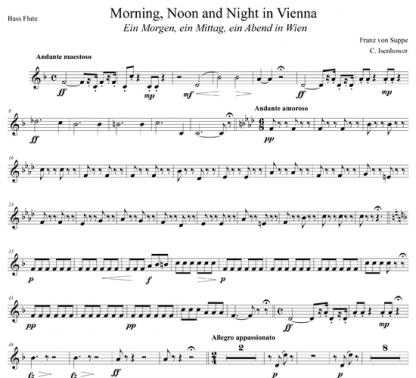 Morning, Noon, and Night in Vienna for flute octet | ScoreVivo