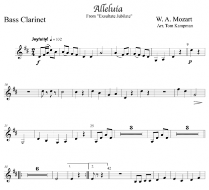 Alleluia from Exsultate Jubilate for clarinet and piano | ScoreVivo
