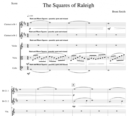 The Squares of Raleigh for clarinet and strings | ScoreVivo