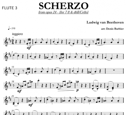 Scherzo from Op 24 for flute and string   ScoreVivo