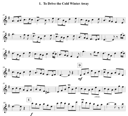 Three Holiday Pieces for flute solo | ScoreVivo